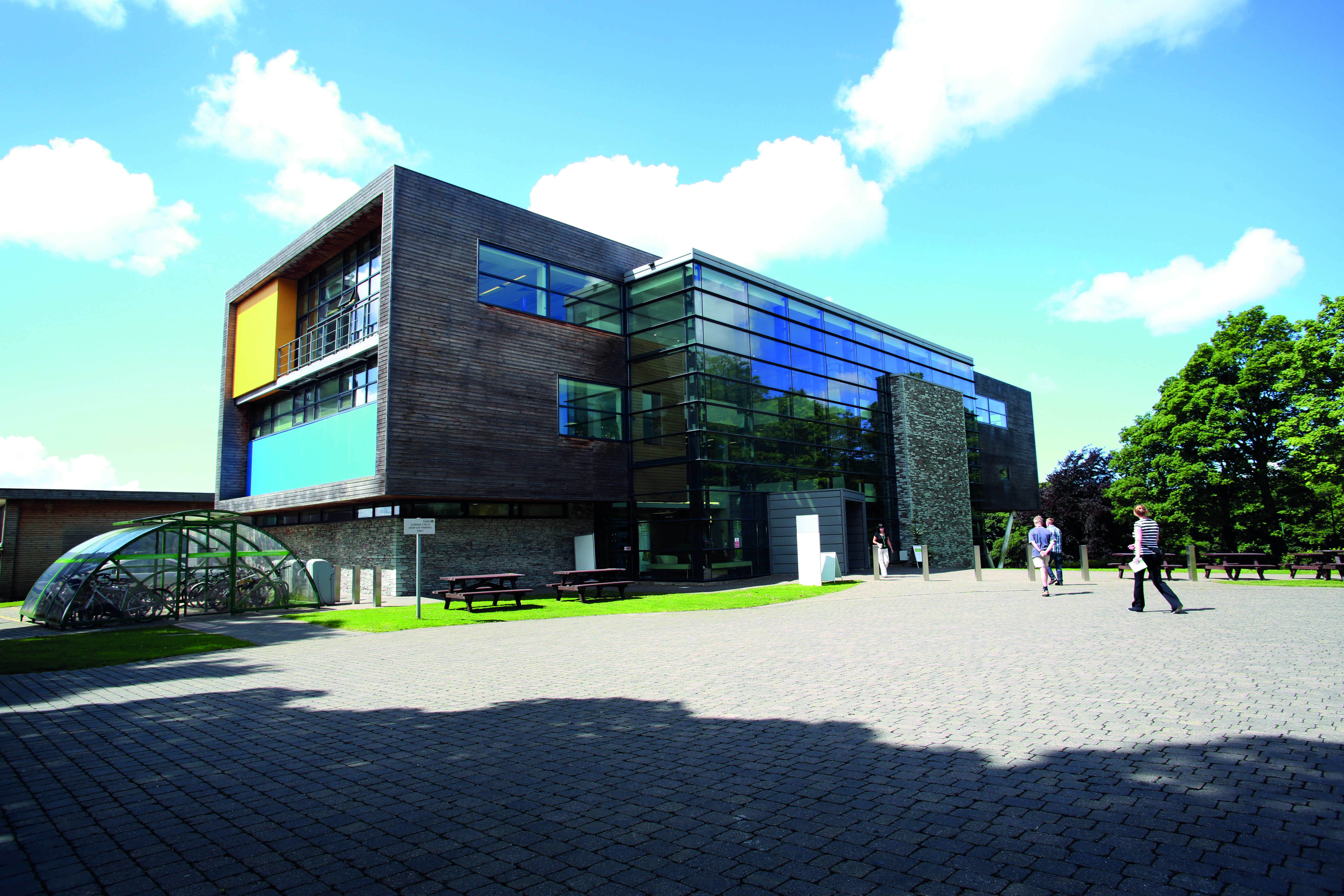 General view of University of Cumbria Lancaster campus gateway building.   Pic:  Lee Boswell 30/7/13
